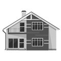 Object Isolated Cottage. Flat ...