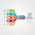 Objective factor arrow vector illustration of infographic design elements Royalty Free Stock Photography