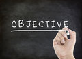Objective with hand writing Royalty Free Stock Photo