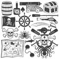 Objects for design pirate logo
