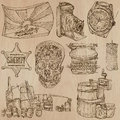 Objects - an hand drawn vector pack. Royalty Free Stock Photo