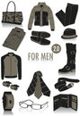Objects for men silhouettes 2 Royalty Free Stock Photo