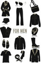 Objects for men silhouettes Royalty Free Stock Photo