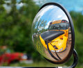 Objects in Mirror May Appear Larger Stock Photo