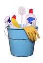 Objects for spring-cleaning Royalty Free Stock Photography