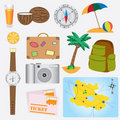 Objects about vacation theme. Stock Photo