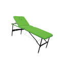 Objects on white: green massage table Royalty Free Stock Photo
