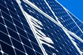 Objectsolar power closeup view of a snow covered solar panel sunny and cold winter day blue and white colors it s really Royalty Free Stock Photography
