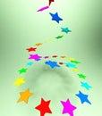 Objetos de las estrellas en fondo Imagenes de archivo