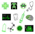 Objetos médicos Fotografia de Stock