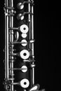 Oboe musical instruments symphony orchestra oboe mechanism detail closeup black Royalty Free Stock Photography