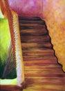 Obraz olejny marokańscy schodki Fotografia Stock