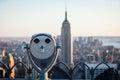 Observation Deck binoculars Royalty Free Stock Photo