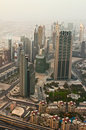Observation deck burj khalifa the highest building in the world dubai uae june view of city from on june dubai Stock Photo