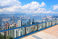 Observation deck at Hong Kong Royalty Free Stock Photos