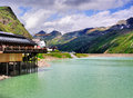 Observation platform terace top silvretta pass one most beautiful roads austria Stock Image