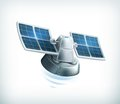 Observation satellite illustration on white background Stock Photo