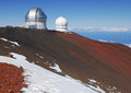 Observatories mauna kea hawaii near the summit Stock Photography