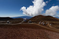 Observatory on mauna kea hawaii Stock Photography