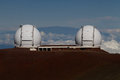 Observatory on mauna kea hawaii Stock Photo