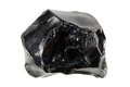 Obsidian or volcanic glass isolated on white background Royalty Free Stock Photo