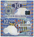 Obsolete 1997 Netherlands 10 Guilder Stock Photos