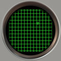 Obsolete radar screen Royalty Free Stock Photography