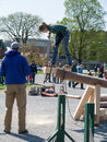 Obstacle Course event at Woodmans Competition Royalty Free Stock Photo