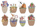 Occassions Gift Baskets 2 Royalty Free Stock Images