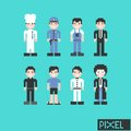 Occupation character in pixel graphic art illustration Stock Image