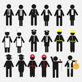 Occupation icon set of professional business concept Royalty Free Stock Image
