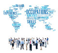 Occupation job careers expertise human resources concept Royalty Free Stock Photography