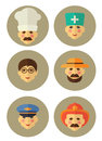 Occupation people icons set in flat style Royalty Free Stock Photo