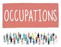 Occupations Career Job Employment Hiring Recruiting Concept Royalty Free Stock Photo