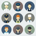 Occupations Icons Set Royalty Free Stock Photography