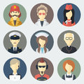 Occupations Icons Set Royalty Free Stock Images