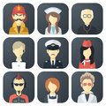 Occupations Icons Set Royalty Free Stock Photo