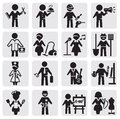 Occupations and professions set Royalty Free Stock Image