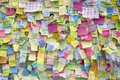 Occupy central movement hong kong sar november umbrella revolution messages and political slogans on post it notes to support of Stock Images