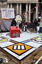Occupy London encampment at St Paul's Cathedral Royalty Free Stock Photo