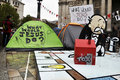 Occupy London encampment at St Paul's Cathedral Stock Images