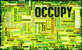 Occupy Movement Stock Photo
