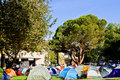 Occupy UCLA Demonstrator's Encampment On Campus Royalty Free Stock Photography