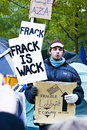 Occupy Wall Street 6, frack is wack Stock Photos
