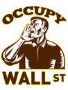 Occupy Wall Street American Worker Royalty Free Stock Images