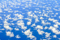 Ocean aerial cloudscape Royalty Free Stock Photo