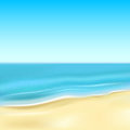 Ocean background with sandy beach and the illustration Stock Image