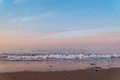 Ocean beach at the crack of dawn Royalty Free Stock Photo