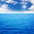 Ocean blue Royalty Free Stock Photo