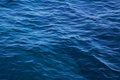 Ocean: Blue water background - empty natural surface. Royalty Free Stock Photo
